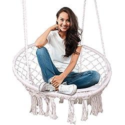 Feiren Extérieure intérieure salon suspendus chaises Macrame balançoire hamac chaise