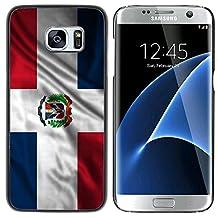 FJCases República Dominicana Dominico Bandera Ondeante Carcasa Funda Rigida para Samsung Galaxy S7 Edge