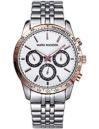 Mark Maddox HM0004-07 - Reloj de cuarzo para hombre, correa de metal color plateado