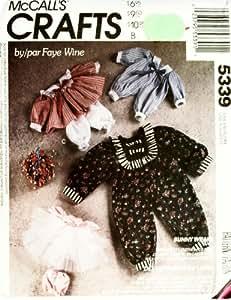 McCall's Patterns Crafts Lapin pour, vêtements pour poupées Patron de Couture Lapin Country # 5339