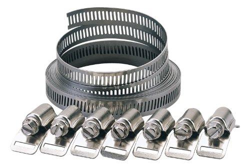12 Mm, bagues, colliers de serrage nécessaire à l'utilisateur, longueur : 2-élastiques disponibles largeur, 8 et 12 mm, chaque ensemble est livré avec 3 m de longueur et 8 fourchettes-élastiques clamps. display.