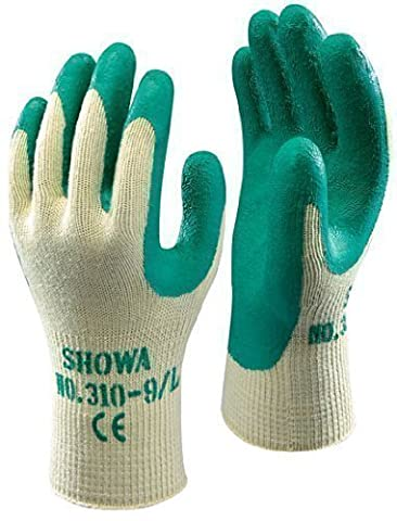 Showa 310 Green Grip Work & Gardening Gloves Size 7 / Small