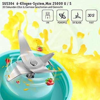 Yomao-Tragbar-Smoothie-Maker-Mixer-USB-Wiederaufladbar-Juicer-Mini-Standmixer-mit-6-Scharfen-Klingen-aus-Edelstahl-480ML-Glas-Mini-Blender-fr-SmoothiesMilkshake-Zuhause-Bro-ReiseSportBPA-frei