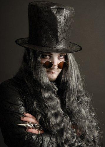 Bristol Novelty Gothic Vampir Runde Sonnenbrille