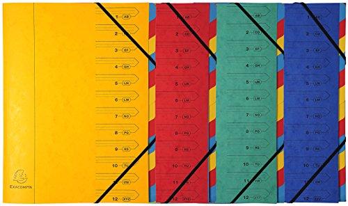 Exacompta 54245E Conventional file folder, Caja de cart/ón, Rojo, A4, 400 g//m/², 245 mm Carpeta