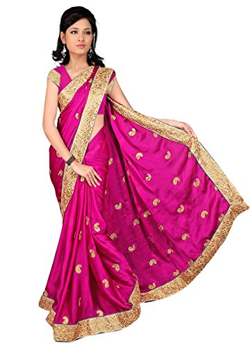 Sonaria Sarees presents berry chiffon saree with golden border and green pipen
