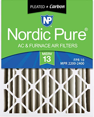 Nordic Pure 16 x 20 x 4 m13 + C-1 Merv 13 Plus Carbon AC Ofen Air Filter, qty-1 (Ac-filter 16x16x1)