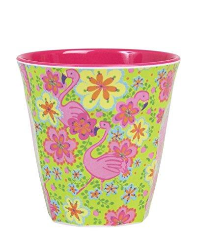 Cup en m̩lamine motifs flamants roses Rice