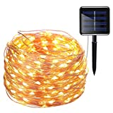 AMIR Solar Powered String Lights, 200 LED Copper Wire Lights, 72ft 8 Modes - Best Reviews Guide