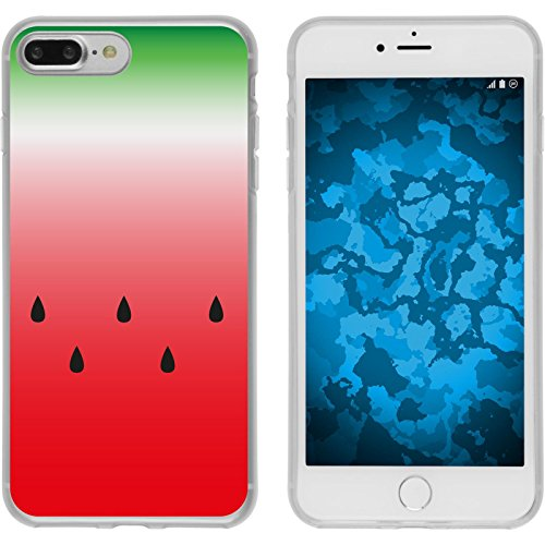 PhoneNatic Case für Apple iPhone 8 Plus Silikon-Hülle Sommer Melone M5 Case iPhone 8 Plus Tasche + 2 Schutzfolien Design:05