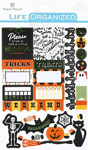 IONS Halloween Aufkleber, Planer, 3er Pack, Halloween Fun 5/Pkg (Paper Crafts Halloween-dekoration)