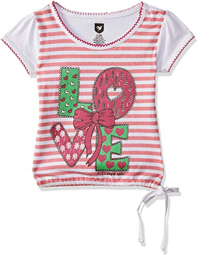 612 League Baby Girls' Striped Regular Fit Polo