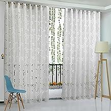 Amazingdeal365 Schal Vorhang Flugfensterdeko Voile Gardinen 2m 1 M Set Fr Tr Schlafzimmer Wohnzimmer