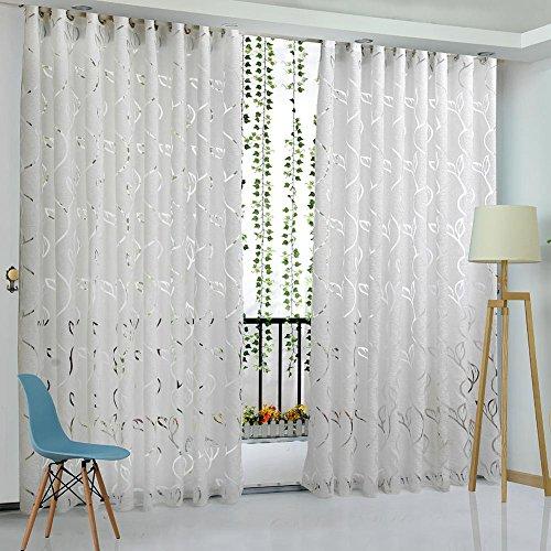 La Cabina Rideau Fenêtre Floral Demi-ombrage Cirrus Vigne Feuille Partition 2M/78.74 '