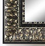 Spiegel Wandspiegel Badspiegel Flurspiegel Garderobenspiegel - Über 200 Größen - Ancona Schwarz Silber 7,5 - Außenmaß des Spiegels 50 x 70 - Wunschmaße auf Anfrage - Antik, Barock