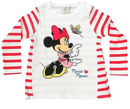 Disney Baby Minnie Maus Baby Langarmshirt (80cm (12-18 Monate) Rot)