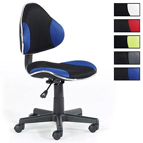 Kinderdrehstuhl Schreibtischstuhl Drehstuhl ALONDRA, schwarz/blau