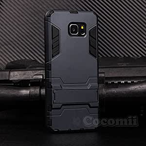 Galaxy Note 5 Case, Cocomii® [HEAVY DUTY] Iron Man Case *NEW* [ULTRA WAR ARMOR] Premium Shockproof Kickstand Bumper [MILITARY DEFENDER] Full-body Rugged Dual Layer Cover (Black) ★★★★★