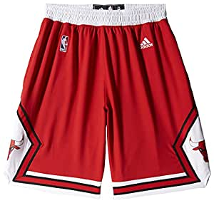 adidas Nba Swingman Chicago Bulls Short Homme Rouge FR : XXL (Taille Fabricant : 2XL)