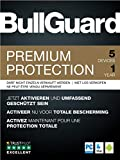 BullGuard Premium Protection 2019 1Y/5 Geräte Retail|Standard/Upgrade/Home/Personal/Professional usw.|5 Gerät|1 Jahr|PC, MAC, Android|Download|Download