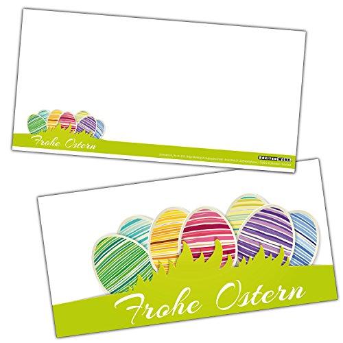 FROHE OSTERN Gruß-Karten-Set XL (24 Stück) Moderne Osterkarten ideal als Brief oder Postkarte und...