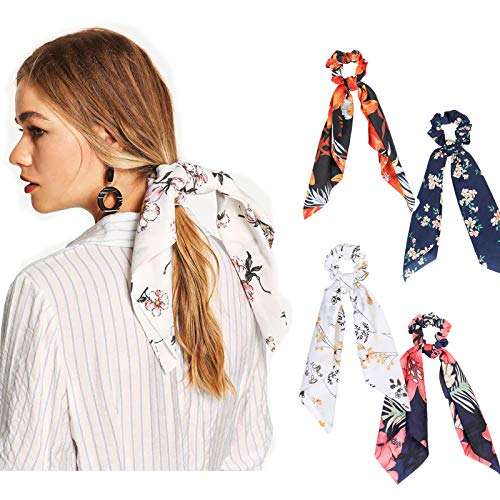 WELROG 4 Stücke Frauen Haar Haargummis Haar Krawatten Kopfverpackung Gummibänder Haar Zubehör (Mischen - 2) Krawatten Krawatten Krawatten