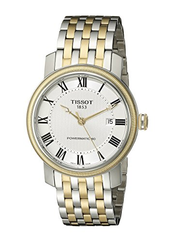 Tissot uomo T0974072203300Bridgeport analogico display svizzero automatico orologio bicolore