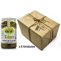 Pack 6 unidades Pepinillos medianos 120/160 Sabor Anchoa - Envase PET 1200 g Peso neto unidad