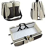 Biubee 3 in 1 Diaper Bag Travel Bassinet - Waterproof Baby Nappy Bag Bed Portable Changing Pad for Baby Boy Girl