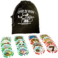 Dexter Innovations Chip N Win: The On Course - Juego de fichas de póquer para Jugar hasta el Final.