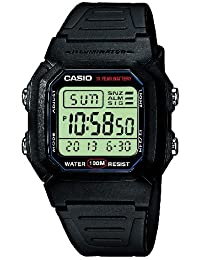 Casio Collection – Herren-Armbanduhr mit Digital-Display und Resin-Armband – W-800H-1AVES