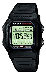 Casio Collection Montre Homme Digitale avec Bracelet en Résine – W-800H-1AVES