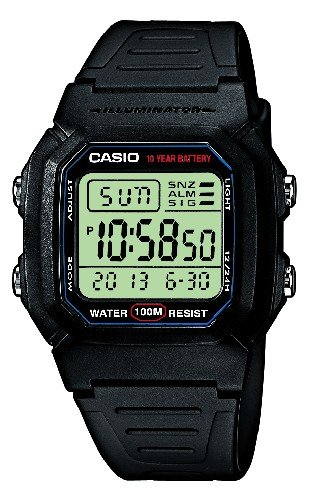 Casio Collection – Reloj Hombre Digital con Correa de Resina – W-800H-1AVES