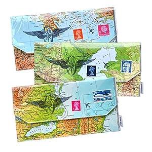 renna deluxe Reiseetui Reiseorganizer aus Landkarte Weltreise | Handmade in Deutschland