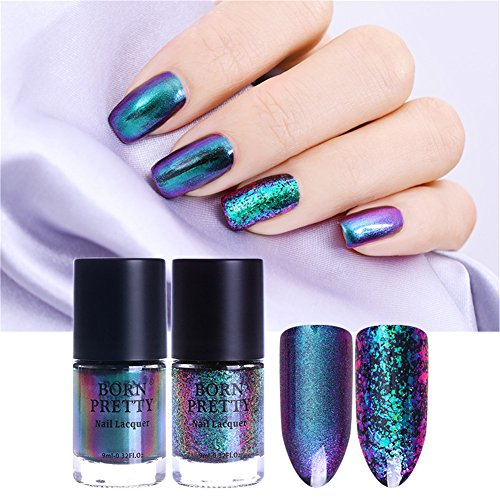 Born Pretty 9ml Chameleon Nail Polish Eternal Life Destiny Fairy Sequins Nail Lacquer Varnish