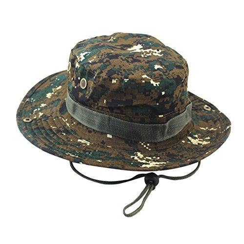 Kobay Cappellino bouclè Berretto Regolabile Cappellino Boonie Berretto  Militare Cappello da Pescatore da Uomo 0802b5d12101