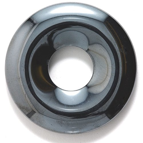 Shipwreck Beads Focal Hematite Donut 40-mm, Pack of 4