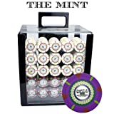 Claysmith Gaming 1000-Count 'The Mint' Poker Chip Set in Acrylic Case, 13.5gm