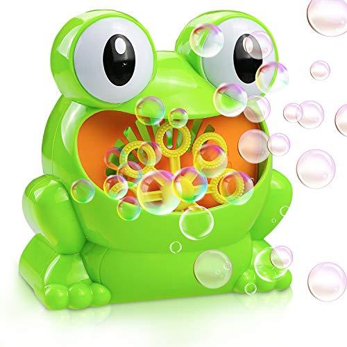 Gifort Automatic Maquina Burbujas máquina de soplado de Burbujas portátil, soplador de Burbujas Alimentado por batería (batería no incluida) para niños pequeños, Juguetes Ideales para niños