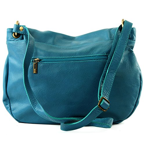 Made Italy, Borsa a tracolla donna Turchese (Turquoise - Türkisblau)