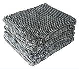 lianji Bambus und Mikrofaser Küche Geschirrtücher Super saugfähige große und Dicke Geschirrtücher Reinigungstücher (grau)