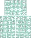 81 Fenstersticker weihnachten Weihnachtssticker, Removable Startseite Wandaufkleber Wandsticker Schneemann, Weihnachtsmann,Weihnachtsbaum Statisch Haftende PVC Aufkleber (Weiß)