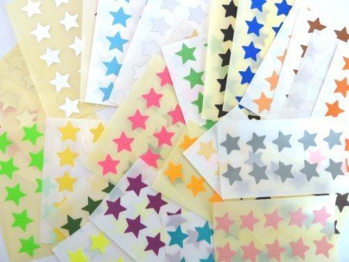 Klebeetiketten, Sterne, selbstklebend, für Farbkodierung, 15 mm Durchmesser, mehrere Farben, 280 Stück (Pink Star Chart)