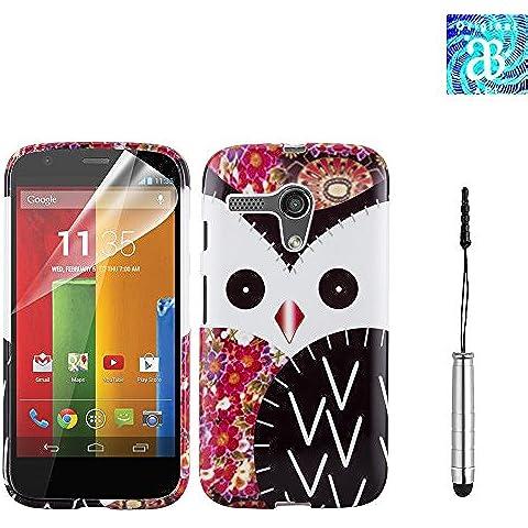 Motorola Moto G (1ª generación) Premium Tpu Hydro Gel Funda + libre Protector de pantalla y gamuza + lápiz capacitivo/Touch Pen, compatible con Motorola Moto