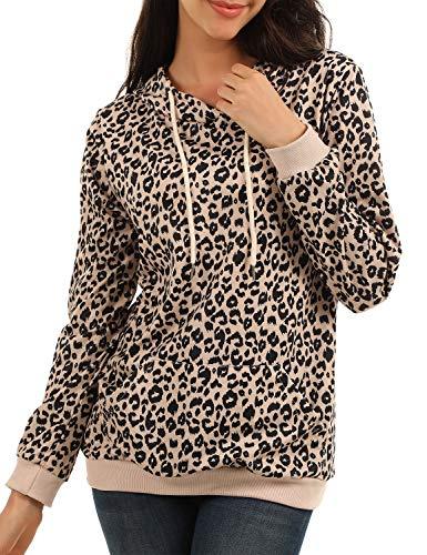 BMJL - Sudadera de Manga Larga para Mujer, diseño de Leopardo Leopard 02 42 ES/Large
