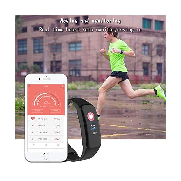 VEVICE - Pulsera de actividad, con control de ritmo cardíaco, contador de pasos, rastreador de actividad inteligente… 4