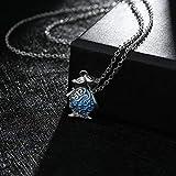 CATS Unisex Zink-Legierung Kabel Kette Anhänger Halskette Leuchtende Serie Mode Niedlichen Pinguin Anhänger Leuchtende Halskette, Preußischblau