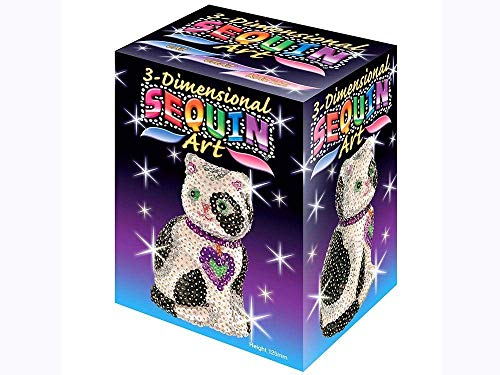 KSG Arts and Crafts 3D Sequin Art 0501 Cat 3D Polystyrene Model Kit