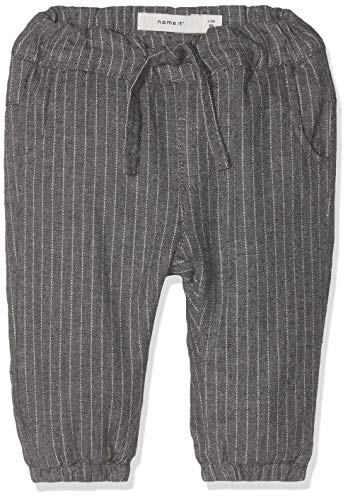 NAME IT Baby-Jungen Hose NBMRITTIN Pants WL, Grau (Grey Melange), 74 -