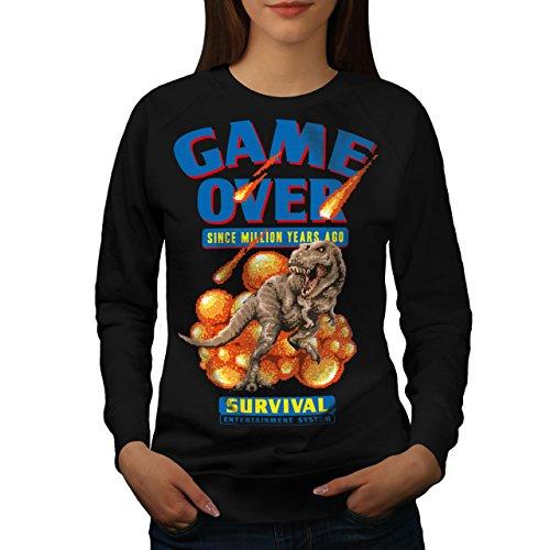 Spiel Über Dinosaurier Frau XL Sweatshirt | Wellcoda
